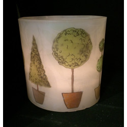 Topiary Hurricane Candle
